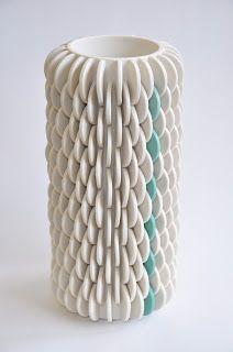Ruth Harrison Ceramics Ceramic Clay, Ceramic Vase, Porcelain Ceramics, White Ceramics, Ceramic Texture, Pottery Art, Ceramic Pottery, Pottery Ideas, Pottery Sculpture