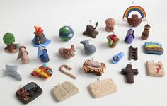 Clay Jesse Tree Ornaments in Miniature by TheBashfulDaisy on Etsy.  These are…