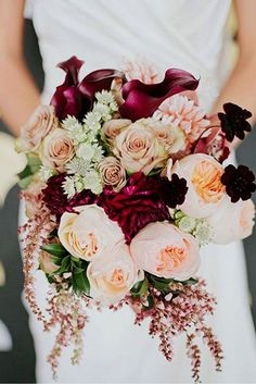 24 Wedding Bouquet Ideas & Inspiration - Peonies, Dahlias, and Lilies ❤️ See more: http://www.weddingforward.com/wedding-bouquet-ideas-inspiration/ #weddings