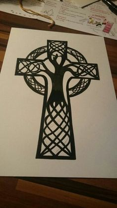 Image result for covering a cross tattoo with a tree Irish Tattoos, Dad Tattoos, Celtic Tattoos, Viking Tattoos, Tattoos For Guys, Sleeve Tattoos, Celtic Cross Tattoo For Men, Celtic Tribal, Celtic Art