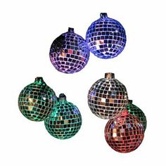 Kurt Adler LED Color Changing Disco Ball Christmas Light Set - Indoor
