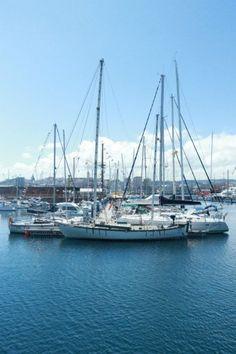 Boats in the harbor, La Coruna, Spain