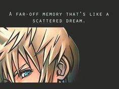 a far-off memory that's like a scattered dream