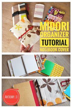 Come realizzare una copertina stile Midori, in stoffa. Midori organizer per quaderni e taccuini. Il tutorial per realizzare una copertina Midori in stoffa