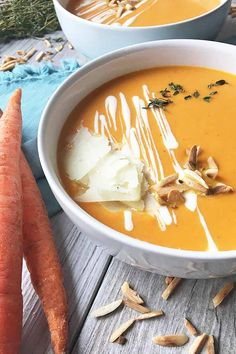 Get our vibrantly orange carrot soup recipe now on Foodal, and make your taste buds light up with the fresh flavors and velvety texture.