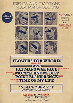 GigPosters.com - Flowers For Whores - Fat Mans War Face - Point Blank Range