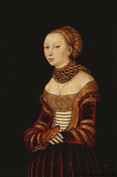 Portrait of a young woman, by Lucas Cranach the elder, 1525
