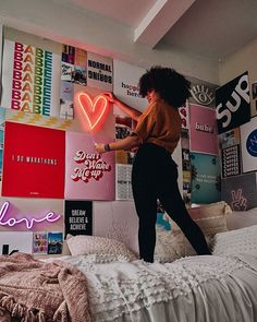 The Neon Red Heart represents truth, clarity, inspiration and power. Don't waste another day without this eye-catching piece, grab the Neon Red Heart today and show your friends how powerful your energy is! Cute Room Ideas, Cute Room Decor, Teen Room Decor, Room Ideas Bedroom, Dorm Room Decorations, Bedroom Inspo, Bed Room, Room Wall Decor, Room Art