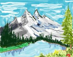 Bob Ross Microsoft Paint | My Creations | Pinterest | More ...
