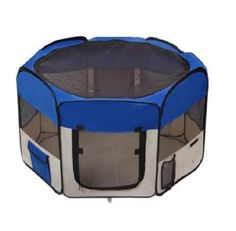 Just like you have a playpen for your baby here is one for your puppy or small pet. They can play and nap in this playpen. Pet Playpen 45 inch Foldable Portable Exercise Kennel Puppy Dog Cat Carrying Bag