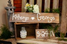 DIY rustic wedding signs centerpieces details pictures (22)