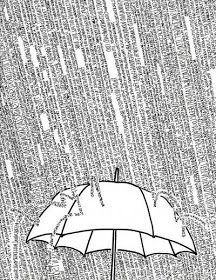 "by Trey Everett, illustration to the book ""Downpour of the Mind"" Poesia Visual, Plakat Design, Umbrella Art, Design Graphique, Art Journal Inspiration, Art Plastique, Doodle Art, Word Art, Oeuvre D'art"