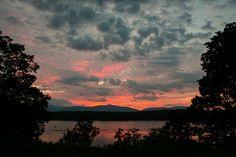 Sunset on the Hudson River, Catskills NY