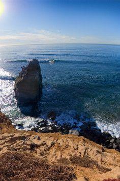 Sunset Cliffs Natural Park in San Diego, California is a favorite sunset spot .