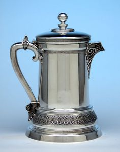 Tiffany & Co Antique Sterling Silver Covered Pitcher by Edward C. Moore, New York, c. 1865