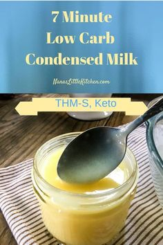 Seven Minute Low Carb Condensed Milk THM S is a game-changing development in low carb condensed milk that makes many more low carb desserts doable...try it! #lowcarb #lowcarbbaking #dessert Best Low Carb Recipes, Low Sugar Recipes, Low Carb Dinner Recipes, Diet Recipes, Snacks Recipes, Yummy Recipes, Low Carb Sweets, Low Carb Desserts, Recipes