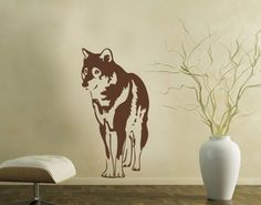 Wolf Wall Decal, Wolf Wall Sticker, our Wolf wall decal is sure to add the beauty of the wild to any room