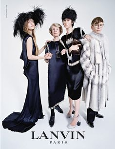 Lanvin fall/winter 2014/2015 ad campaign with edie and olympia campbell by tim walker