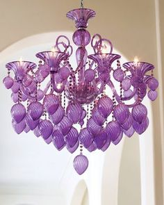 We just LOVE this purple chandelier! #hotlooks