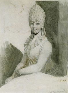 Mrs. Fuseli with a Curled Hairstyle,1796. Henry Fuseli. The blog post have several other works by him as well.