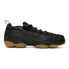 Reebok Classics Black DMX Run 10 Gum Sneakers Reebok Classics Leather Sneakers, Air Max Sneakers, Sneakers Nike, Textile Logo, Lounge Pants, Sneakers Fashion, Reebok, Nike Air Max, Mens Fashion