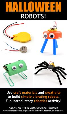 Halloween Robots / simple vibrating robots for fun hands-on STEM exploration