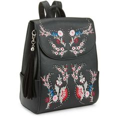 Miss Selfridge Embroidered Backpack