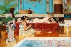 Roman Bath - Georg Pauli - Symbolism, 1882
