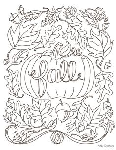 Today, I'm sharing with you my first FREE Coloring Page. I have been wanting to create these for […] Make your world more colorful with free printable coloring pages from italks. Our free coloring pages for adults and kids. Fall Coloring Sheets, Fall Leaves Coloring Pages, Leaf Coloring Page, Coloring Pages To Print, Free Printable Coloring Pages, Coloring Book Pages, Free Coloring, Coloring Pages For Kids, Kids Coloring