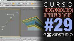 3ds max Proyecto Arquitectura Interior -29- Techo y molduras