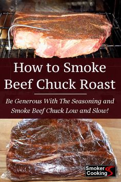 Tender, juicy smoked chuck roast is delicious. Learn how to smoke a chuck roast that is fall apart tender, and perfect for your barbecued beef sandwiches. Chuck roast takes hours to cook in the smoker, but the wait is worth it! Source by smokercooking Smoked Beef Roast, Smoked Chuck Roast, Beef Chuck Roast, Smoked Pork, Grilled Roast, Smoked Chicken, Roast Beef, Traeger Recipes, Recipes