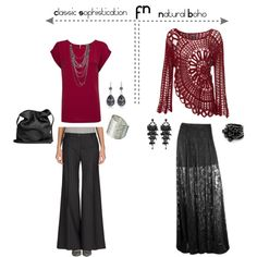 A fashion look from August 2012 featuring MANGO t-shirts, Mauro Grifoni pants and Ann Demeulemeester shoulder bags. Browse and shop related looks.