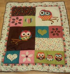 Owl quilt for baby girl! We both LOVE this quilt! LOVE IT!