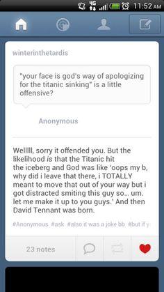 And so, David Tennant was born!