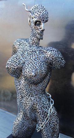 Original steel sculpture by Scott Wilkes The demon Wire Sculpture, Eclectic Art, Steel Sculpture, Statue, Sculpture, Art, Metal Art Sculpture, Interesting Art, Unusual Art