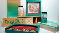 Trash to Treasure Beachy Upcycle with Home Decor Chalk Paint by Plaid