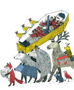 Ilustración de Amélie Fontaine para la obra Cuentos de la Madre Tierra.