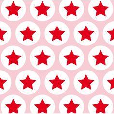 Geschenkpapier Sterne rosa-rot: Geschenkpapier mit Sternenmuster in rosa-rot, der Stern ist ca. 2 cm gross - 3 Bögen - Papier leicht glänzend, 100 g - Größe ...