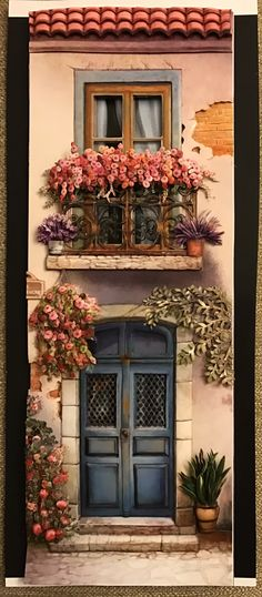 Tuile, Miniature Houses, Pictures To Paint, Windows And Doors, Painted Rocks, Diy And Crafts, Wallpaper, Photos, Painting