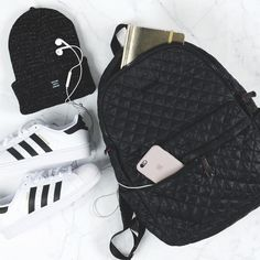 The Metro Backpack gets ready for a walk to the gym.