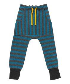 Magnifique pantalon rayé gris et bleu par Albababy. albababy.fr.emilea.be