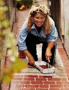 Great idea! Roll your own faux bricks.