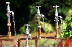 'Tap Dance' interactive water feature, Birmingham Botanical Gardens