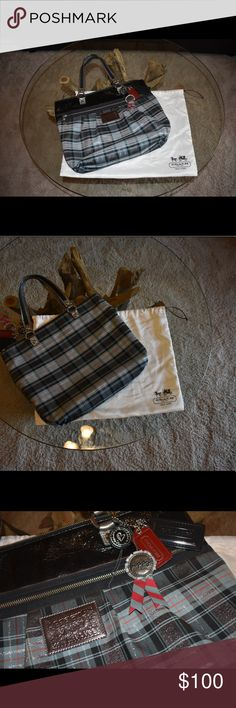 Coach poppy plaid tote Coach poppy plaid tote tartan. Dust bag not included Coach Bags Totes