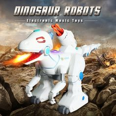 Remote Control Toys Interactive Robots Electric interactive Dinosaurs toys walking Fire Dragon & Dinosaurs For Games Kids Toys Pet Toys, Kids Toys, Rc Robot, Robots, Robot Dinosaur, Fire Dragon, Remote Control Toys, Electronic Music, Robot