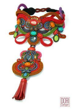 multicolor : Fusion Statement Necklace