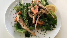 Salat med kylling, asparges og søtpotet