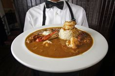 This is Creole Seafood Gumbo served at Dooky Chase Restaurant in New Orleans.