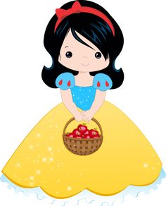 BlANCA DE NEVE Disney Clipart, Cute Clipart, Cartoon Pics, Cute Cartoon, Snow White Birthday, Disney Princess Dresses, Clip Art, Cute Images, Disney Wallpaper