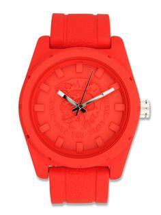 Diesel DZ1589 Unisex Logo Dial Red Silicone Watch